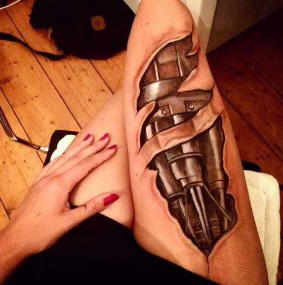 3d Thigh Tattoos