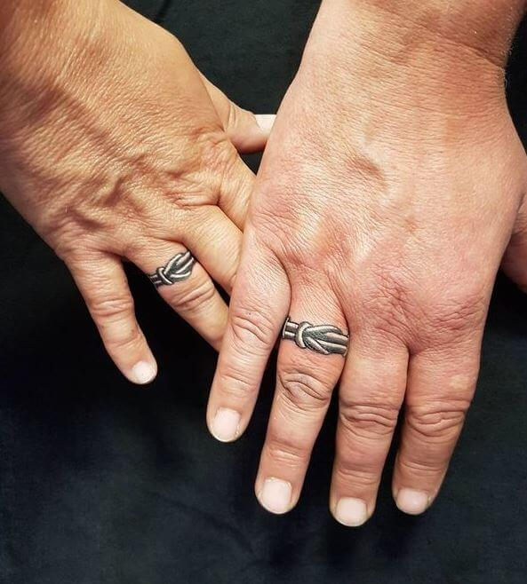 3d Wedding Ring Tattoos