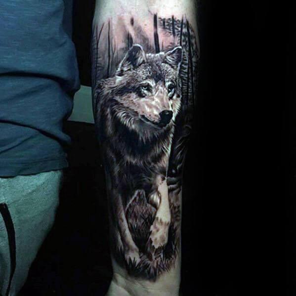 3d Wolf Tattoos