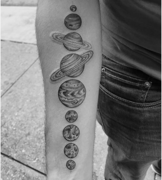 All Planets Tattoos Design On Hands