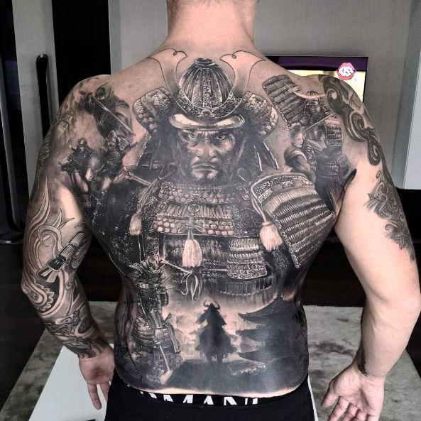 Amazing Work Full Back Tattoos Design