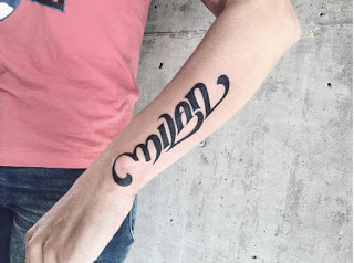 Ambigram Tattoos Design On Arms