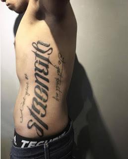 Ambigram Tattoos Design On Ribcage