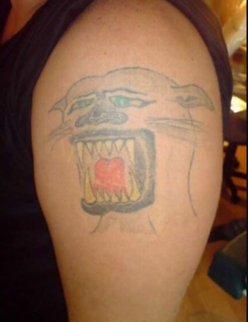 Animal Bad Tattoo Design On Arms