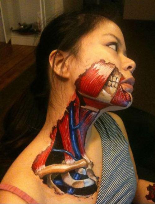 Bad 3D Tattoo Design For Girl