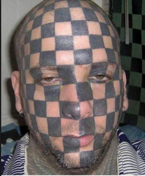 Bad Tattoo Design On Face