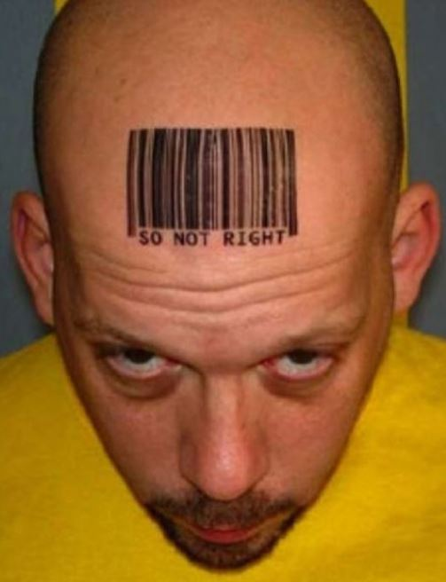 Barcode Bad Tattoos Design