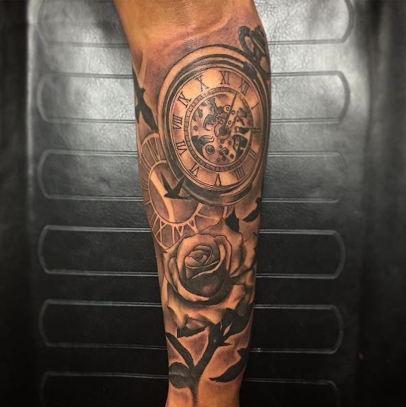 Best Pocekt Watch Tattoos Design And Ideas