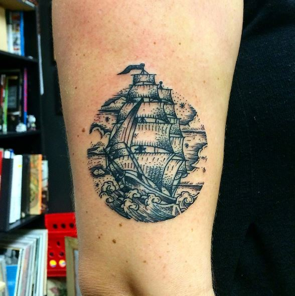 Best Ship Tattoos Design And Ideas