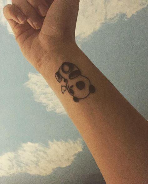 Best Small Panda Tattoos Design On Wrist