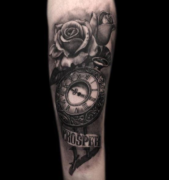 Black Watch Tattoos Design On Hands