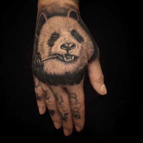 Black And White Color Panda Tattoos Design And Ideas