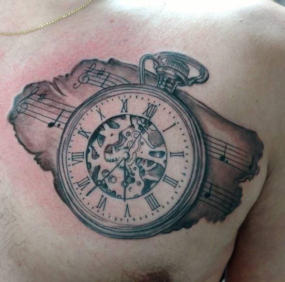 Brilliant Pocket Watch Tattoo Designs Ever Made