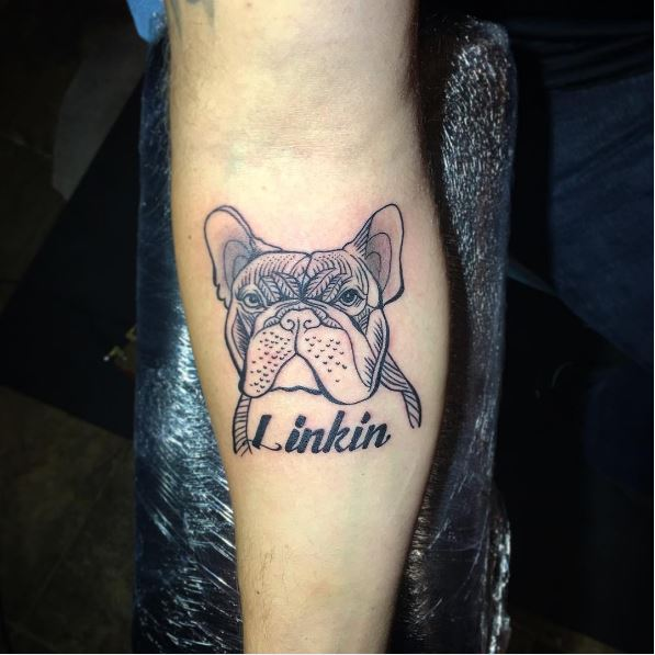 Bulldog Tattoos Design On Hands