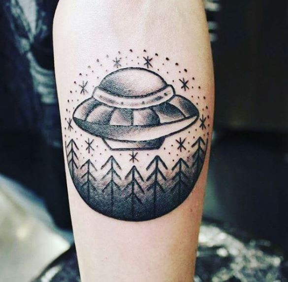 Captivating UFO Tattoo Designs