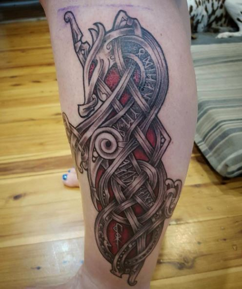 Celtic Tattoo On Leg