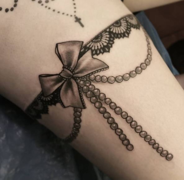 Chain Garter Tattoos Design And Ideas