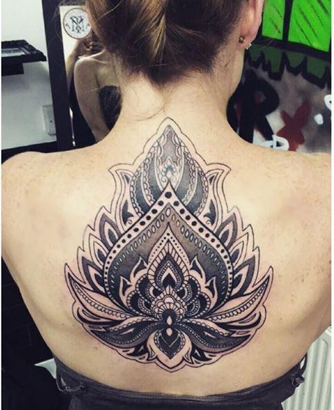 Classical Full Back Tattoos Design