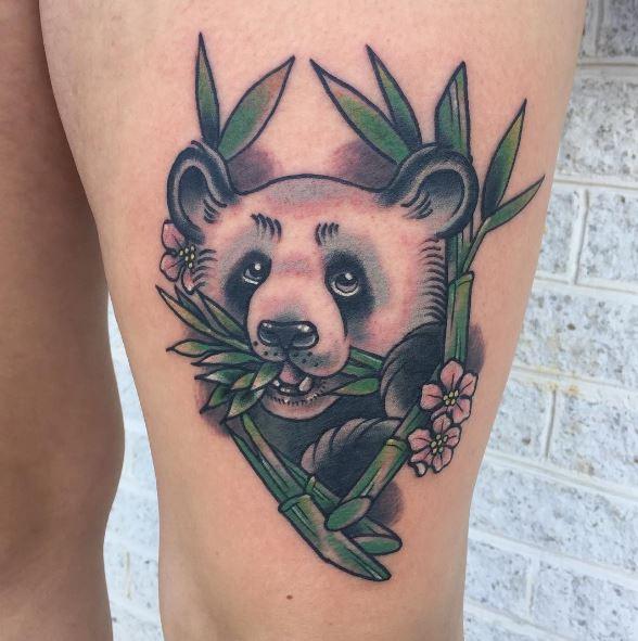 Colored Panda Tattoos Design And Ideas