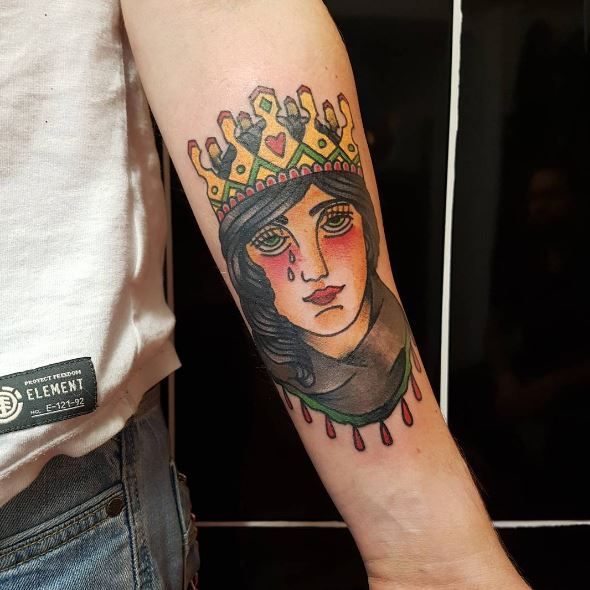 Colorful Queen Tattoos Design And Ideas For Women
