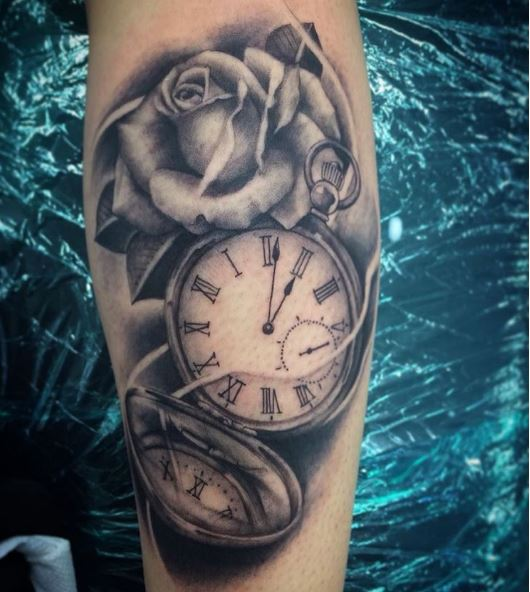 Cool Pocket Watch Tattoos Design And Ideas
