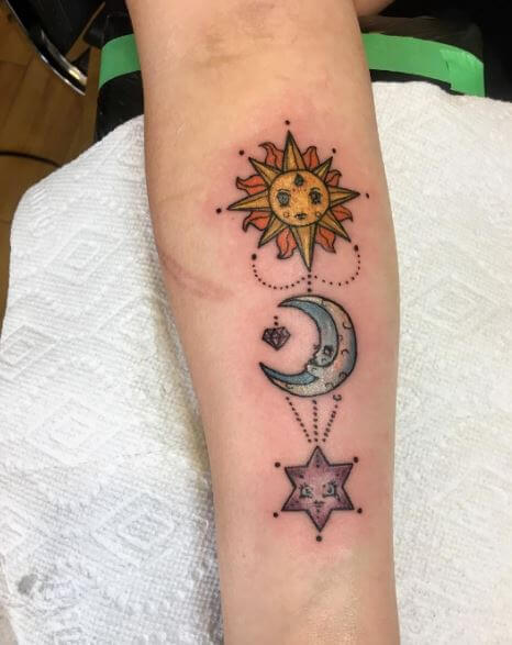 Cool And Lovely Sun Tattoos Design On Hands