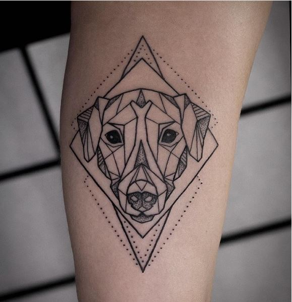 Dot Line Dog Tattoos Design And Ideas