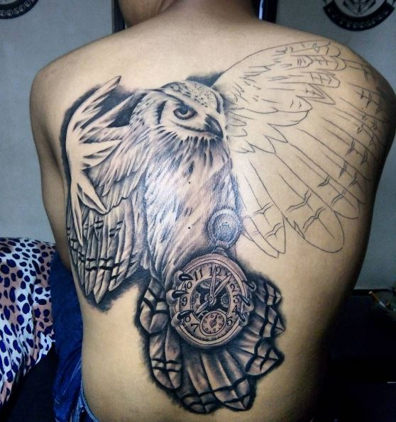 Eagle And Pocket Watch Tattoos Design And Ideas