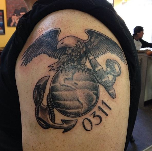 Fabulous And Cool Marine Corps Tattoos Design