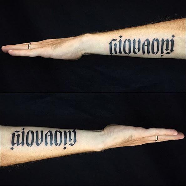 Family Ambigram Tattoos Design