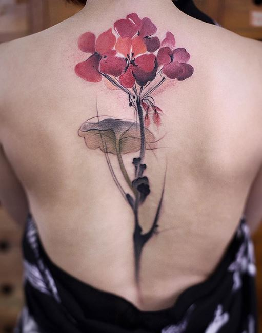 Flower Spine Tattoos Design And Ideas For Women