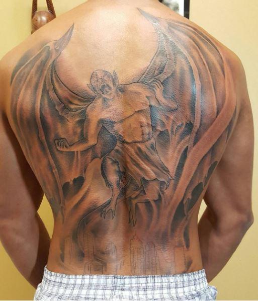 Full Back Devil Tattoos Design Adn Ideas