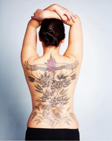 Full Back Tattoos Design For Women