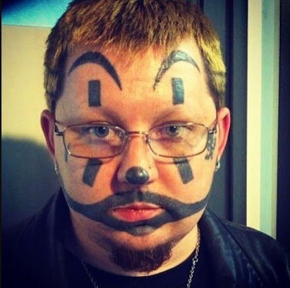 Funny Bad Face Tattoo Design