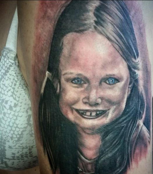 Funny Child Face Bad Tattoo For Women