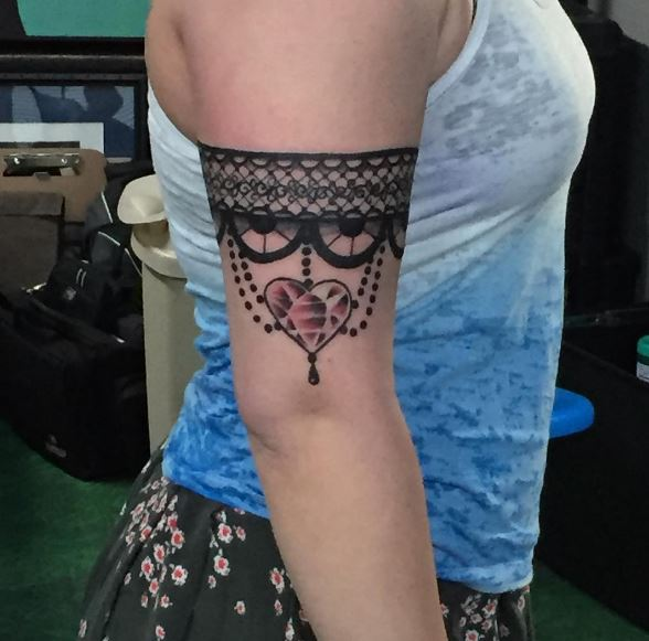 Garter Tattoos Design On Biceps