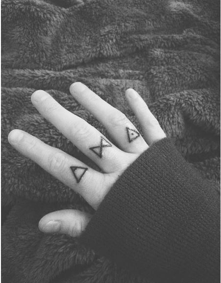 Glyph Tattoos Design On Fingers