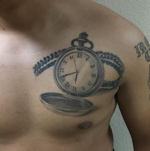 Good Looking Pocket Watch Tattoos Design And Ideas