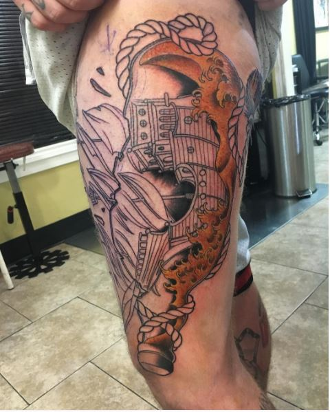 Good Ship Tattoos Design And Ideas For Men