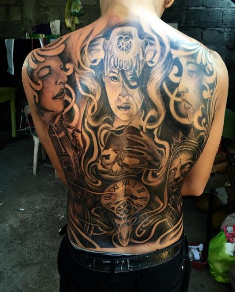 Gorgeous Full Back Tattoos Design And Ideas