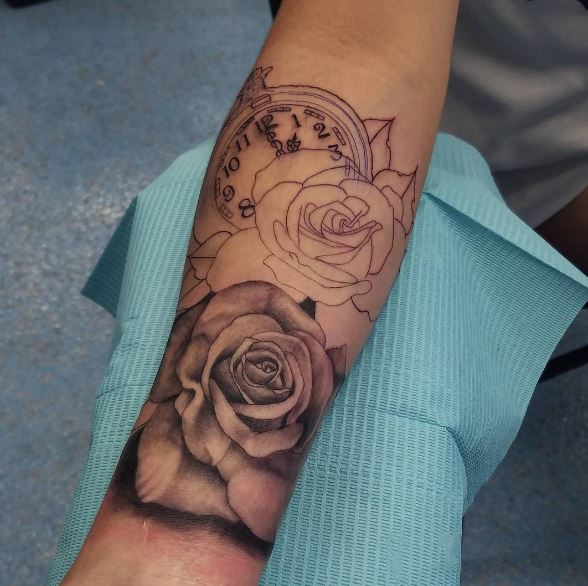 Gorgeous Pocket Watch Tattoos Design And Ideas