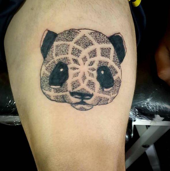 Graphical Panda Tattoos Design And Ideas