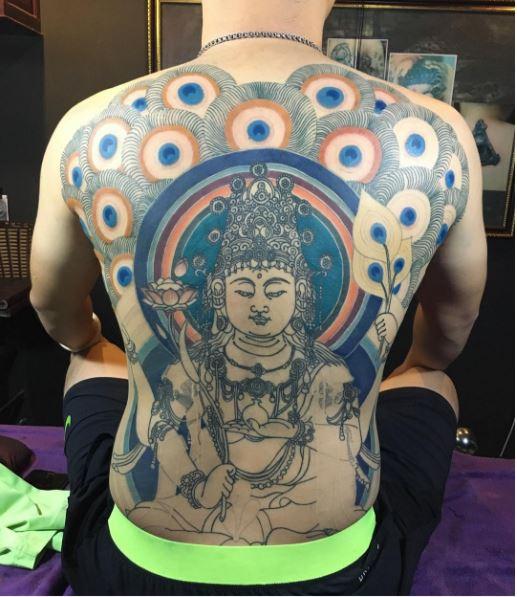Indian God Full Back Tattoos Design For Men