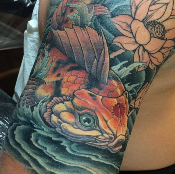 Koi Fish Tattoo On Arm 2