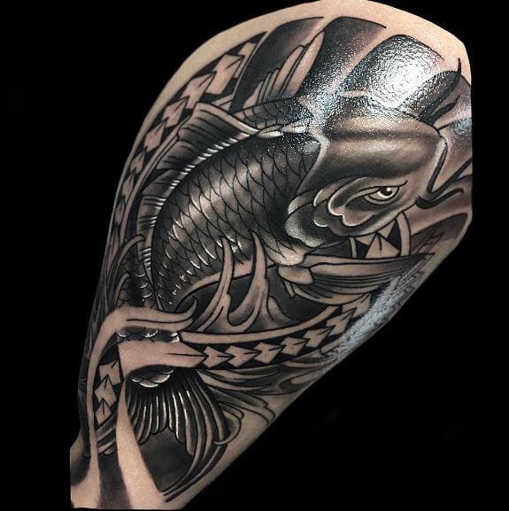 Koi Fish Tattoo On Arm 20