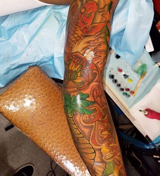 Koi Fish Tattoo On Arm 3