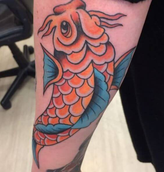 Koi Fish Tattoo On Arm 30