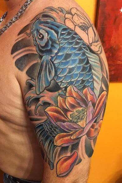 Koi Fish Tattoo On Arm 33
