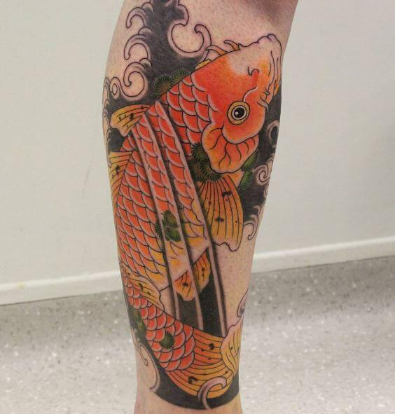 Koi Fish Tattoo On Arm 37