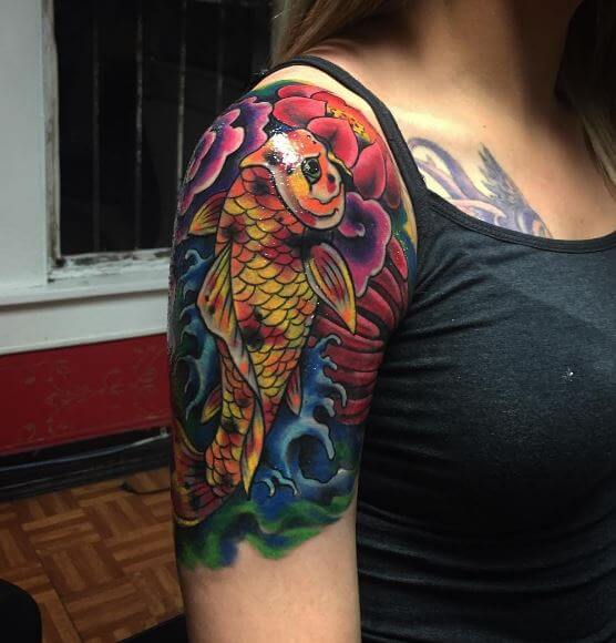 Koi Fish Tattoo On Arm 42